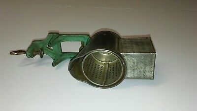 Primative LORRAINE Metal Co. Nutmeg Grinder Table Mounted Country Kitchen Tool