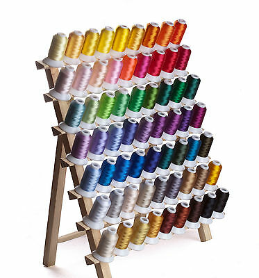 SIMTHREAD 40Wt Polyester Embroidery Home Machine Thread - 63 Colors, 500M Each