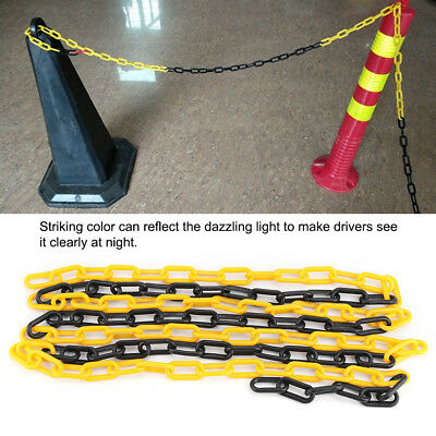 4m Plastic Warning Chain Road Block Barrier Traffic Crowd Safe Fence Warning