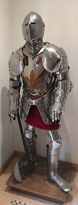 Suit Of Armour 1.8m 6ft Stainless Steel Reproduction
