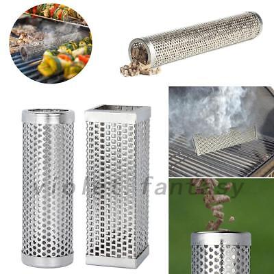 1X BBQ Stainless Steel Perforated Mesh Smoker Tube Filter Hot Cold Smoking
