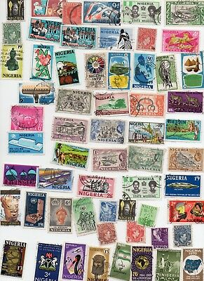 NIGERIA Stamps 70 All Different - Off Paper