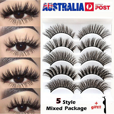 20 pairs Fake Eyelashes Natural Thick Long Lashes Black Handmade False Eyelashes