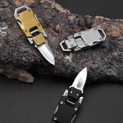 1× Key Chain Keyring Stainless Steel Folding Pocket Mini Knife Outdoor Survival