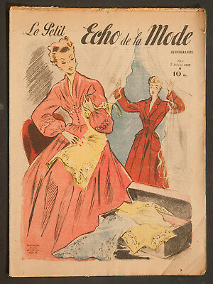 'echo De La Mode' French Vintage Newspaper 2 January 1949