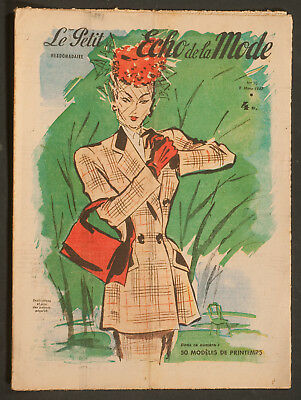 'echo De La Mode' French Vintage Newspaper Spring Issue 9 March 1947