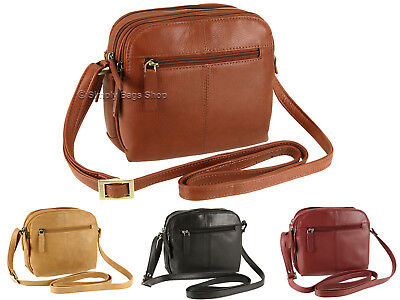 Visconti Ladies Soft Genuine Leather Small Cross Over Shoulder Bag - Holly 18939