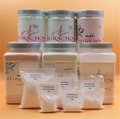 NSI Attraction Acrylic Powder - Nail Enhancement, Choice of Colour & Size Refill