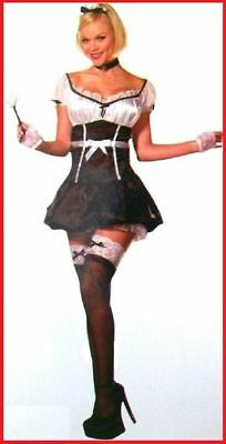 Waitress FRENCH MAID COSTUME Birthday Oktoberfest Hens Party WOMEN sz 8/10 10/12