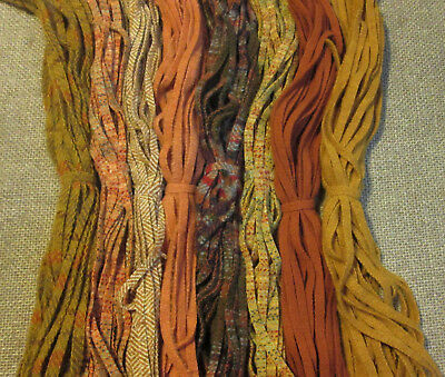 #6 Eight Great Autumn Colors   200 Wool Strips for Primitive Rug Hooking