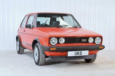 Vw Volkswagen Golf Mk1 Gti Tintop Red 3Dr 1983 1.8 Petrol Classic