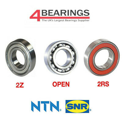 NTN Bearing 6000 - 6312 Series - Open - 2RS - ZZ - C3 - CM - *Choose your size*