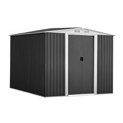 GIANTZ Garden Shed Workshop Shelter Metal with Roof 2.57x2x2M Bulky