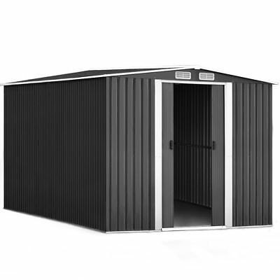 GIANTZ Garden Shed Workshop Shelter Metal with Roof 2.6x3.1x2M Bulky