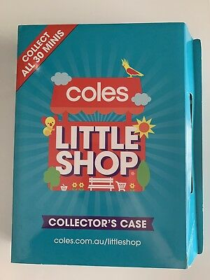 Coles Little Shop Mini Collectables FULL SET OF 30 Pieces And includes folder