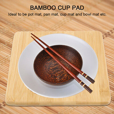 Bamboo Cup Pot Dish Pad Holder Non-slip Heat Resistant Dish Table Mat Placemat
