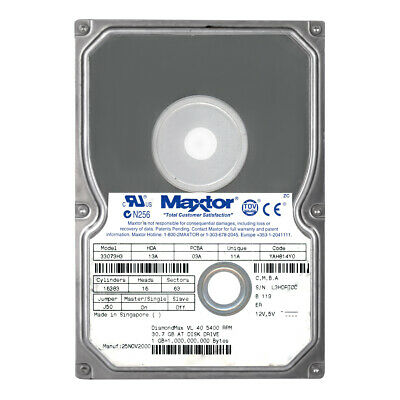 83240D3 Dell # 00006018 Maxtor 3.2GB IDE//ATA 3.5in 5400RPM HDD