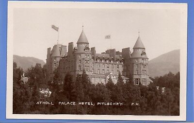 Old Vintage Rp Postcard Atholl Palace Hotel Pitlochry Perthshire