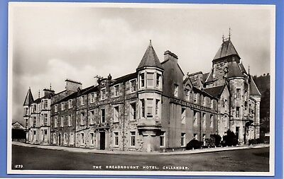 Old Vintage Rp Postcard The Dreadnought Hotel Callander Perthshire