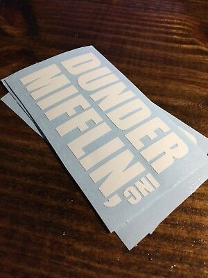 The OFFICE Sticker: Dunder Mifflin Die Cut Decal- White great for car window