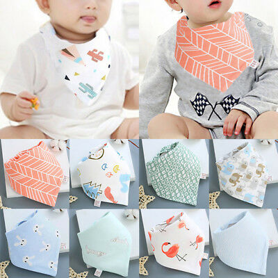 Boy Girls Newborn Baby Saliva Towel Feed Triangle Cotton Bibs Bandana Scarf Cute