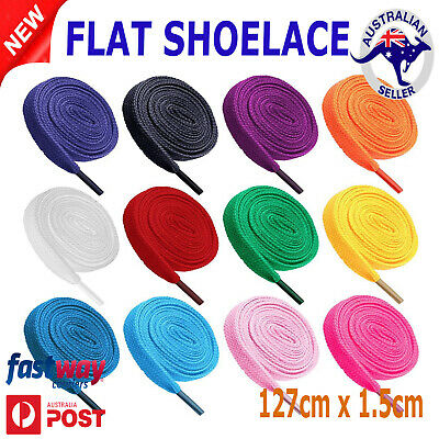 Shoelaces Colorful Coloured Flat Bootlace Sneaker shoe laces AU