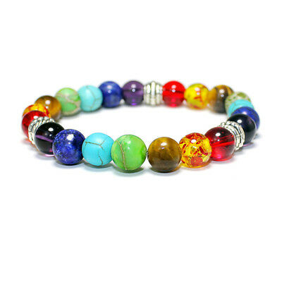 New7Chakra Healing Balance Beads Bracelet Bracciale in pietra naturale gioiell