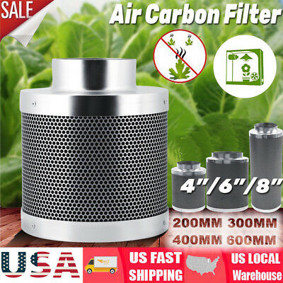 """4"""" 6"""" 8"""" inch Inline Duct Fan Speeder Air Carbon Filter Ducting Combo"""