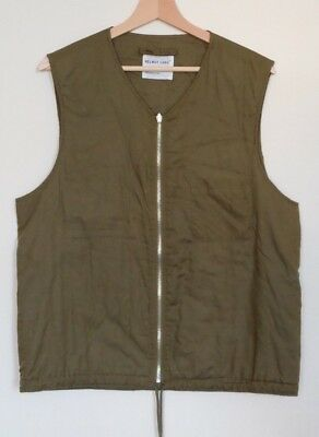 HELMUT LANG JEANS  Reversible Zipped Padded Military Vest - ARCHIVE A/W 1998