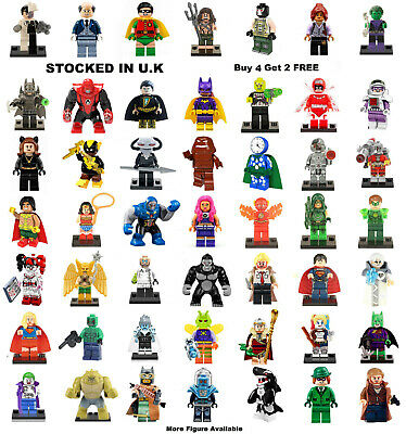 DC Justice League Minifigure Batman Joker Aquaman Clayface Mini Figure All £2.49