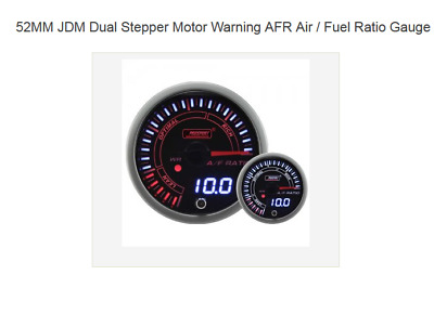 Prosport 52mm JDM style narrowband Air Fuel Ratio AFR gauge with warning