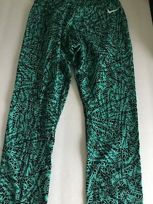 Girl's Size Xs Nike Printed Teal Training Tights Nwot