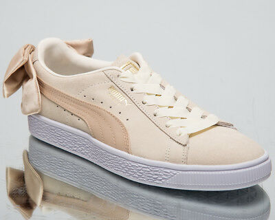 best service 3961a 65442 Puma Women s Suede Bow Varsity New Lifestyle Shoes Marshmallow Gold  367732-03