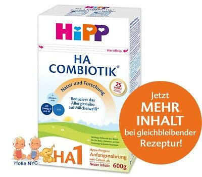 HiPP Combiotic HA 1 First Infant Milk 3 Boxes FREE EXPEDITED SHIPPING