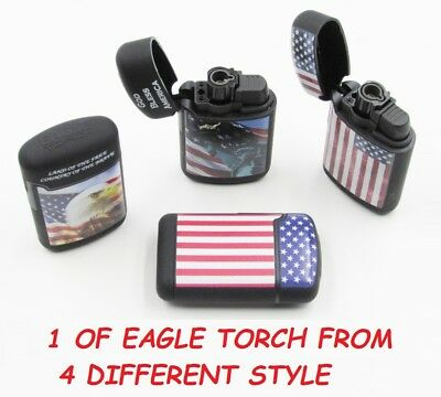 1 Ct USA Eagle Jet Torch Lighter Wind Proof Lighters BALD EAGLE STAR SPANGLED