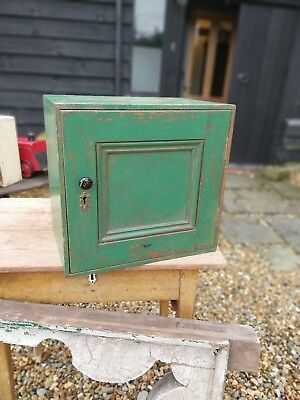 Fantastic Little Vintage Apple Green Cupboard