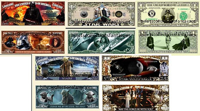 STAR WARS . Lot de 5 Billets différents. USA . Collection / Commémoration