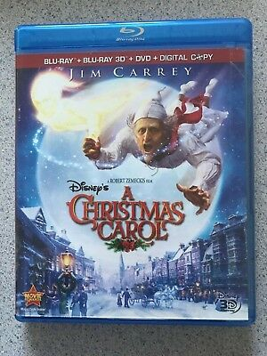 Disney's A Christmas Carol (Blu-ray/DVD, 2010, 4-Disc Set, 3D No Digital Code