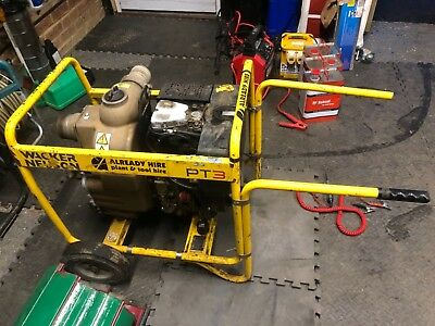 Wacker Neuson 3' Diesel Water Pump Spares Or Repair Sludge Silt No Vat