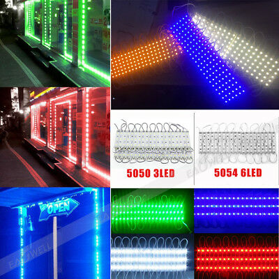 1~10PC Super Bright Waterproof 5054 SMD/ 5050 SMD LED Module Lights Lamp DC 12V
