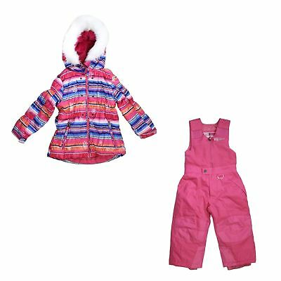 82aac0c929c51 Weatherproof 32 Degrees 2 Piece Set Hooded Jacket and Snow Bib Pants, Size  4T