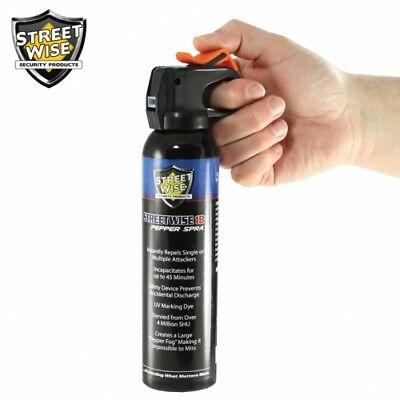 6 Pack Lab Certified Streetwise 18 Pepper Spray 9oz Fire Master - Self-Defense