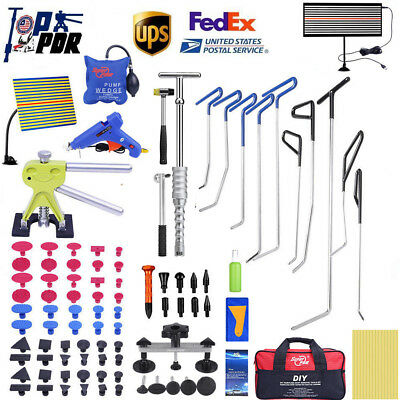 110x PDR Rods Paintless Dent Repair Dent Lifter LED Line Board Removal Tools Set