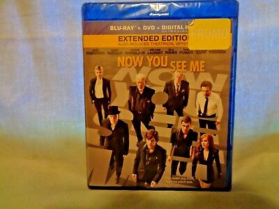 Now You See Me Blue-Ray + DVD + Digital 2013 New Sealed