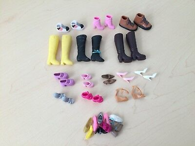 Lot Of 14 Pairs Barbie Shoes Boots Heels Sandals Sneakers Plus 9 Single Shoes