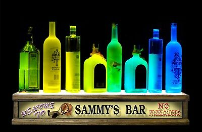 2'Led Lighted Liquor Bottle Display Bluetooth Control Personalized No Freeloader