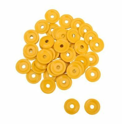 Woody's Round Aluminum Support Plates - 5/16in. Thread Yellow AWA-3800-1