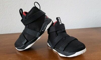 257cca771ac2 Nike Lebron Soldier 11 XI Shoes SZ 7C Infant Toddler Black White Red Boys  Kids