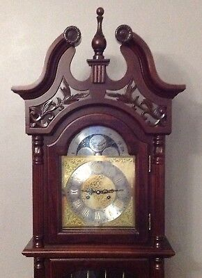 Stunning reproduction long case Grandfather Clock local collection only.