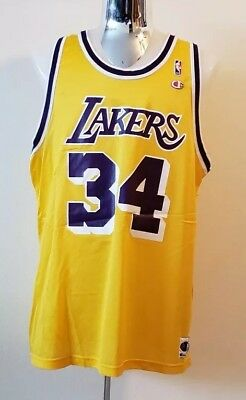 2dc1663f57c6 Vintage Shaquille O Neal Shaq Los Angeles Lakers NBA Champion Jersey Mens  52 XXL